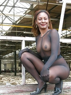 Ebony GF In Nylon Ebony Girl