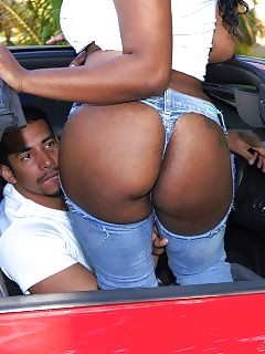 Check Out This Breathtaking Delightful Ass Black Angel Get Dicked Hard In A Car Store Behind The Counter Teasing