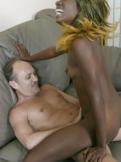 Horny Black Grinding Her Vagina Hard On A Huge Dick